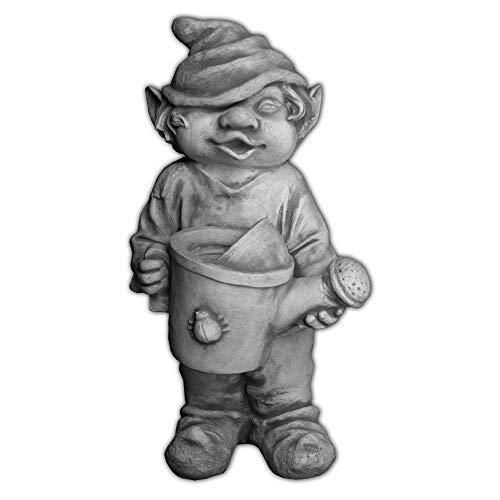 gartendekoparadies.de Figure de Pierre Massive GNOME Amusant ami du Jardin Troll Lutin en Pierre reconstituée, résistant au Gel