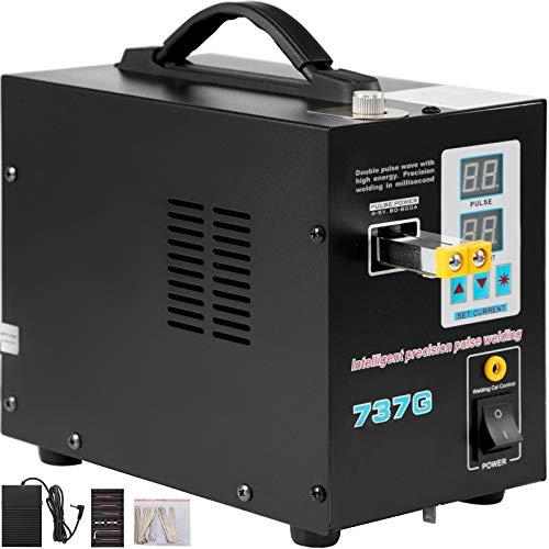 Mophorn 737G Battery Welding Machine, 0.15mm Pulse Spot Welder, 110V...