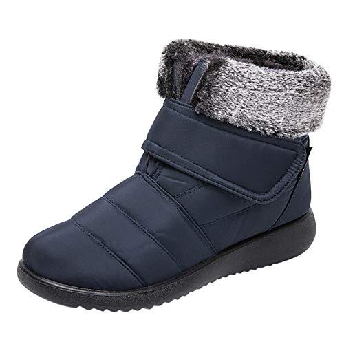 manadlian Chaussures Bottes Hiver Femmes Courte Bottines Mode Bottes de Neige avec Doublure Chaussures Chaud Fourrure Ankle Boots 2020