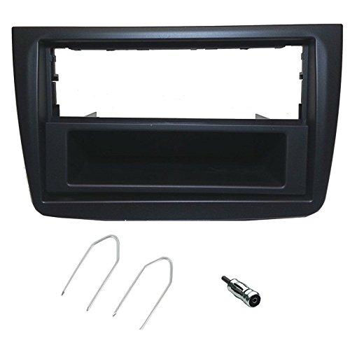 Sound-way Kit Montaggio Autoradio, Mascherina 1 DIN / 2 DIN, Adattatore Antenna, Chiavi di Smontaggio, compatibile con Alfa Romeo Mito