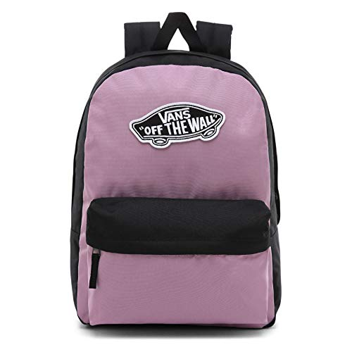 Vans Womens Wm Realm Backpack Purple (Valerian-Black), 12.5x42.5x32.5 cm (W x H x L)