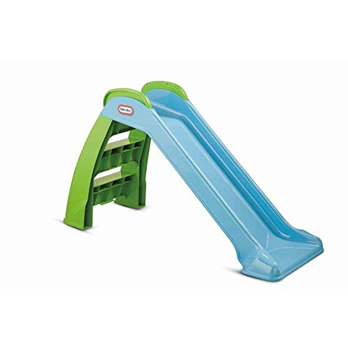 Little Tikes First Slide - Playset for Indoor or Outdoor Use - Durable, Stable, Kid-Safe - Blue & Green