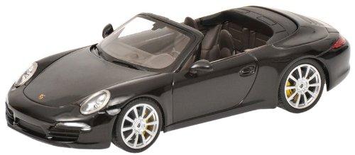 Minichamps 410060230 - Porsche 911 Carrera S Cabriolet (991), Maßstab: 1:43, schwarz