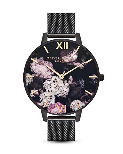 Olivia Burton Damen Analog Quarz Uhr mit Edelstahl Armband OB16AD35