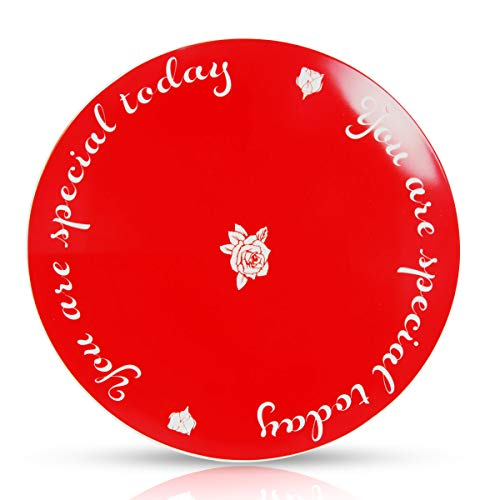 CQNET You Are Special Today Red Plate Premium Ceramic Dinner Plate for Birthday Wedding Anniversary Valentine's Day Graduations Engagements 10.5'' (01)
