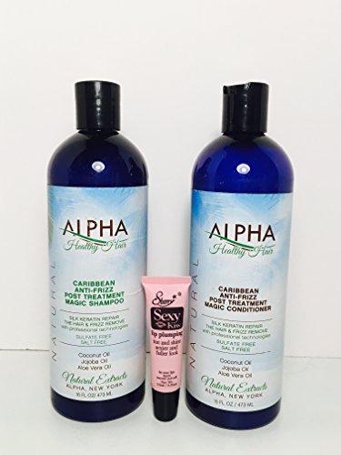 Alpha Salvatore Caribbean Anti-frizz Post Treatment Magic Shampoo and Conditioner'Free Starry Sexy Kiss Lip Plumping 10 Ml' (16 Oz)
