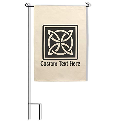 Style In Print Home Decor Garden Flag Celtic Knot A Holidays and Occasions St Patrick's Day Cotton Canvas Outdoor & Patio Decor Flag & Pole Set Personalized Text Here