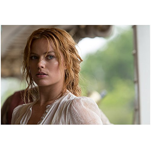 The Legend of Tarzan (2016) 8 inch by 10 inch PHOTOGRAPH Margot Robbie Eyes Looking Left Nervous Scared kn