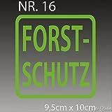Forst-Schutz Aufkleber Schild Frost Sticker Autoaufkleber Scheibenaufkleber Heckklappenaufkleber Grün Wald Wild