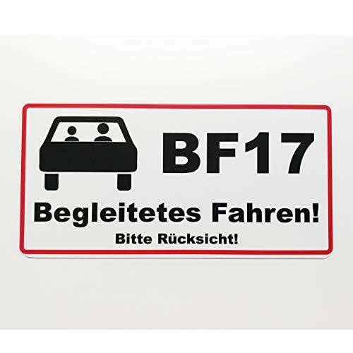 Auto Magnetschild Begleitetes Fahren, BF17, 20 x 10 cm