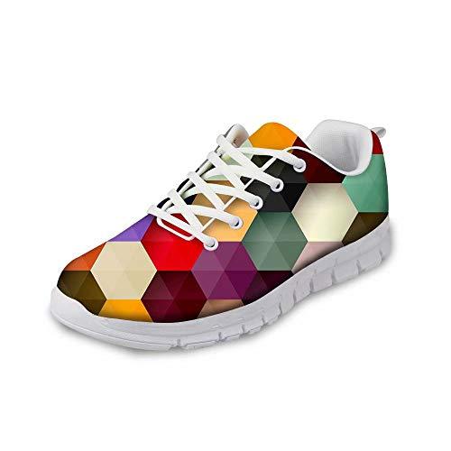 MODEGA Bunte Schuhe Plaid Turnschuhe Cricket-Schuhe Schuhe für Frauen große Breite Crosstrainer Schuhe Männer Bohemien Schuhe Bowlingschuhe für Frauen große Breite Bowling Größe 41 EU|7 UK