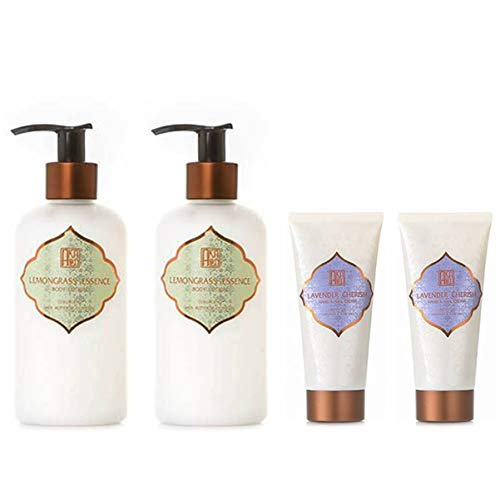 AKALIKO Lemongrass Essence Body Lotion and Lavender Cherish Hand Cream - Set ฺB.