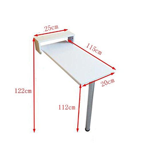 FEI Tenture murale Table Pine Racks pliable Set-top Box Shelf pour cuisine salle de bains chambre Dortoir 105 * 20 * 102 cm / 115 * 20 * 112 cm (taille : 115 * 20 * 112cm)