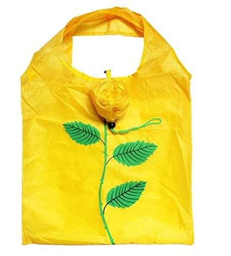 2 Stück wiederverwendbare waschbar faltbare und tragbare gelbe Blume Einkaufstasche...
