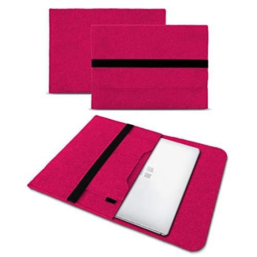 UC-Express Sleeve Hülle kompatibel für Odys Trendbook 14 Pro Tasche Filz Notebook Cover 14' Laptop Schutz Hülle, Farbe:Pink