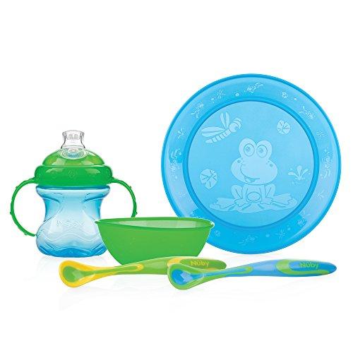 Nuby ID92317 - Pack alimentación para niño, 5 piezas