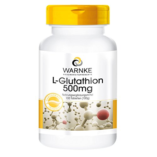 L - Glutatione 500mg complesso - 100 compresse - Tripeptide con proprietà antiossidanti - Protegge le cellule, i tessuti, i reni, il sistema nervoso e gli organi del corpo