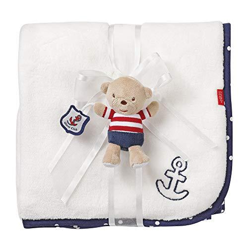 Fehn 078794 Kuscheldecke Teddy / Kuschelige Schmusedecke für Babys und Kleinkinder ab 0+ Monaten - zum Kuscheln, als Krabbelunterlage, Schnuffeltuch oder Zudecke für zuhause und unterwegs