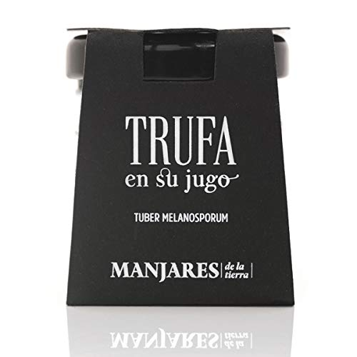 Trufa Negra Natural en su Jugo Tuber Melanosporum para Cocina Gourmet - 15 gr Trufa Española de Sarrión, Teruel.
