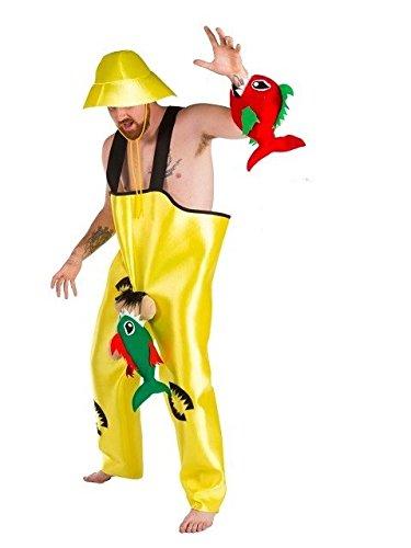 Disfraz de Pescador con Pirañas - Hombre, L