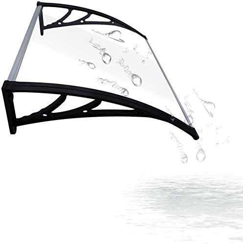marquesinas exterior ,tejadillo de exterior Marquesina Para Porche Shelter | Tablero De Resistencia De PC Transparente | Cubierta Protectora Del Techo Del Toldo De La Sombra Del Porche De La Lluvia De