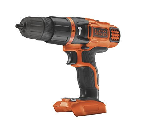BLACK+DECKER 18 V Cordless Hammer Drill with 11 Torque Settings, Battery Not Included, BDCH188N-XJ