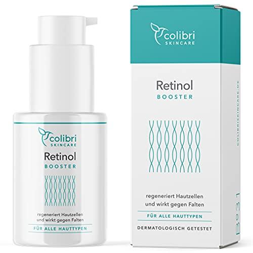 Retinol Serum hochdosiert - 4-fach Wirkstoffkomplex mit Retinol, Retinal, Bakuchiol und Ceramiden -...