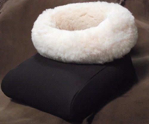 Premium echt Lammfell Fußtasche, Fusswärmer, Fußsack - Natürliche, atmungsaktive Wärme. Pflanzlich gegerbtes Fell, besonders dicht!