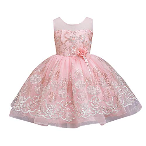 For Sale! Rishine Newborn Girls Sleeveless Sequin Pleated Princess Dress Wedding Party Evening Tutu ...