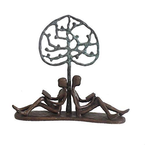 FTFTO Equipo de Vida Estatuas y Figuras Adorno de Estatua Hierro Fundido Hierro Forjado Árbol de Amor Adornos de Pareja Oficina en casa Adornos de Escritorio Retro Matrimonio Creativo
