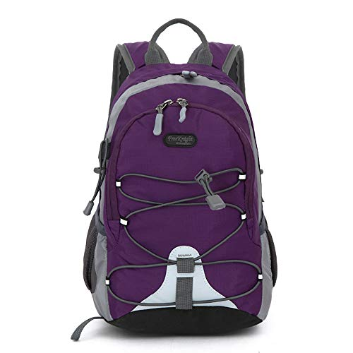 Small Size Waterproof Sport Backpack,10 inches Outdoor Daypack,Suitable for Height Under 4 feet,for Girl Boy Traveling (Purple)