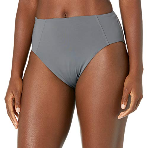 Kanu Surf Women's Bikini Swimsuit Bottoms, Charcoal High Waisted, 14