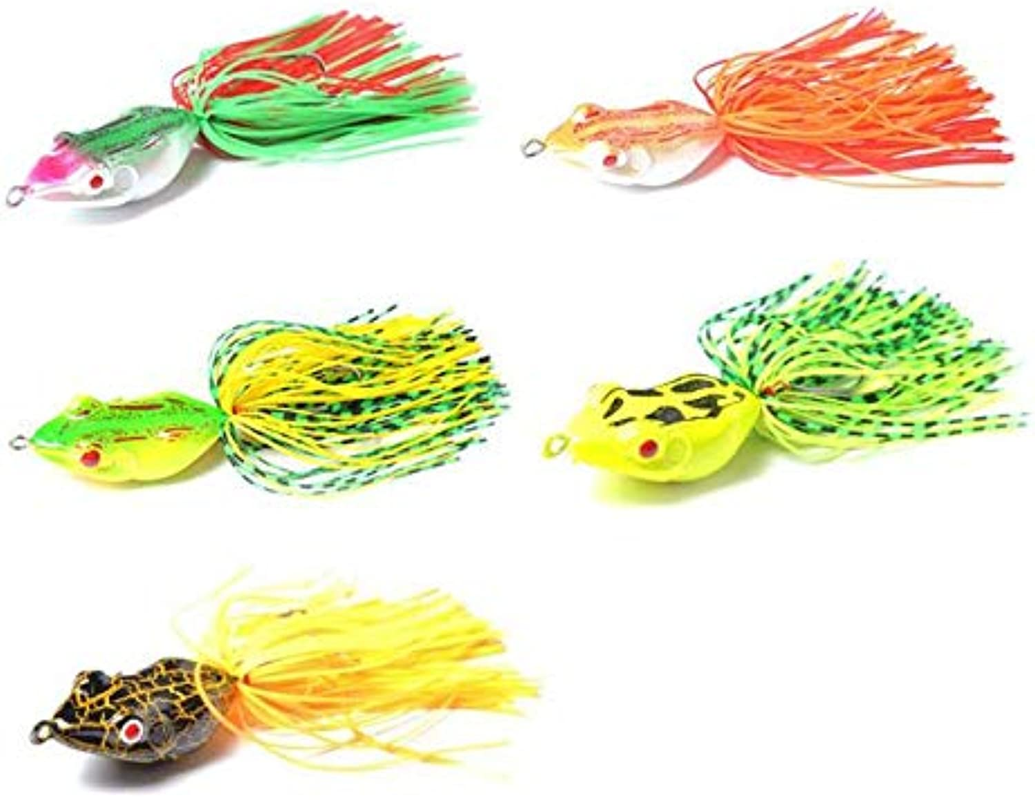 Piedrunner Fishing Lure 5pcs Frogs, Artificial Fishing Lure, Fishing Lure Collection Frogs, Soft Lure Frogs