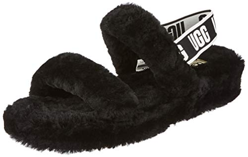 UGG Female Oh Yeah Slipper, Black, 5 (UK)
