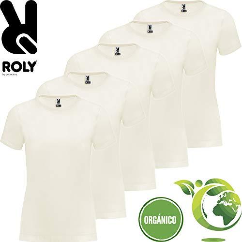Camiseta Algodón Orgánico | Pack 5 | Manga Corta | Mujer (L)