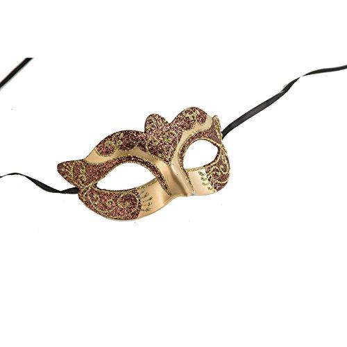 viving kostuums viving costumes204843 glitter half masker (één maat)