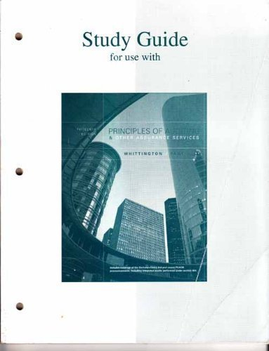 Study Guide to accompany Principles of Auditing & Other Assurance Services (Study Guide)