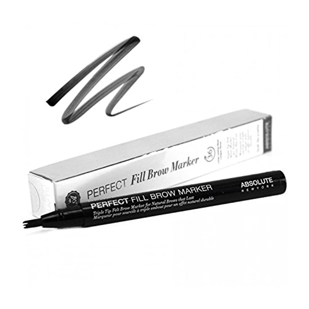 楽な一般プレーヤー(3 Pack) ABSOLUTE Perfect Fill Brow Marker - Raven (並行輸入品)