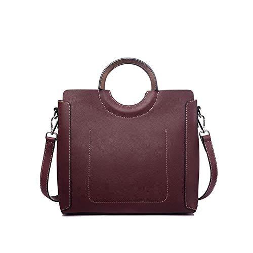 Koe lederen handtas schoudertas diagonale tas grote capaciteit multifunctionele dames rugzak, geschikt voor het werken dating reizen