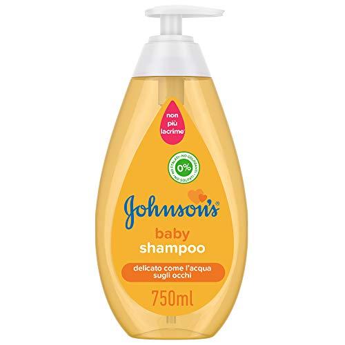 JOHNSON'S Baby, Shampoo, per Bambini, Formula Leggera e Delicata, Senza Coloranti Alcol e Sapone, Non Più Lacrime, Ideale per Tutta la Famiglia, 750ml