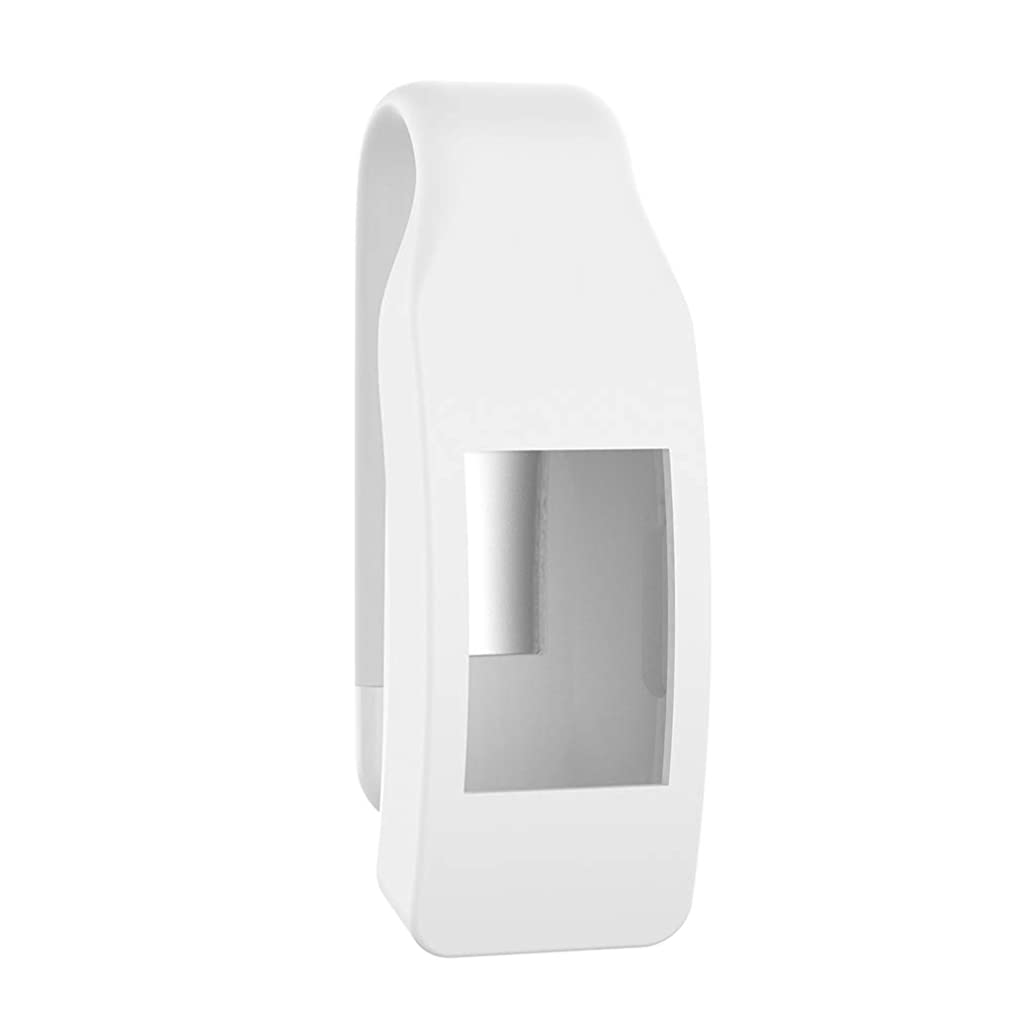 TYewa98556 New Ungrade 2019 Portable Silicone Case Metal Clip Holder Clamp for Fitbit Inspire/Inspire HR - White
