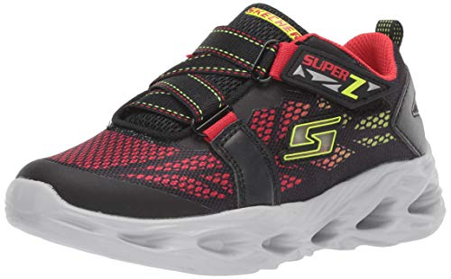 Skechers Kids Baby-Boy's Vortex-Flash-Denlo Sneaker, Black/Red, 10 Medium US Toddler