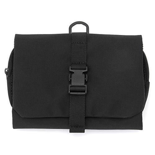 Muji Polyester Hängende Reisetasche Mit Abnehmbarem Beutel, 12 cm Breite x 18 cm Tiefe x 4,5 cm Höhe, Schwarz