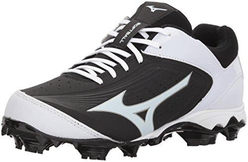 Mizuno Women's 9-Spike Advanced Finch Elite 3 Fastpitch Cleat Softball Shoe, Black/White, 8 B US