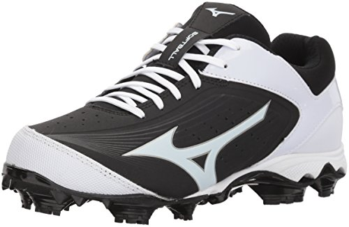 Mizuno Women's 9-Spike Advanced Finch Elite 3 Fastpitch Cleat Softball Shoe, Black/White, 9 B US