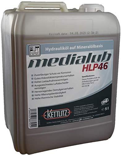 KETTLITZ-Medialub HLP 46 Hydrauliköl auf Mineralölbasis - 5 Liter Gebinde