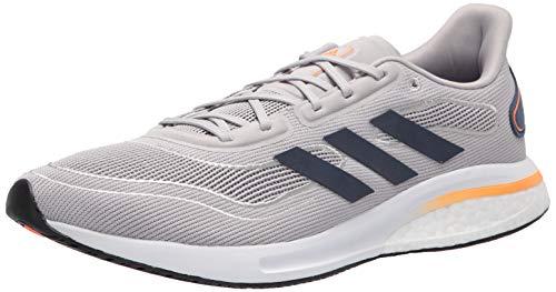 adidas Unisex Supernova Running Shoe, Grey/Collegiate Navy, 10 US Men