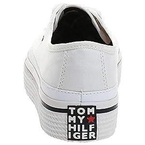 Tommy Hilfiger Corporate Flatform Sneaker, Zapatillas Mujer, Blanco (White 100), 37 EU