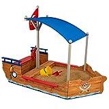 KidKraft- Arenero de madera para niños, diseño de galeón...