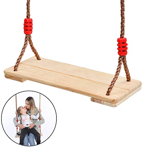 Schommelstoel Houten hangende schommelset met 78 `` in hoogte verstelbaar touw per zijde voor Yard Garden Lawn Park Swing